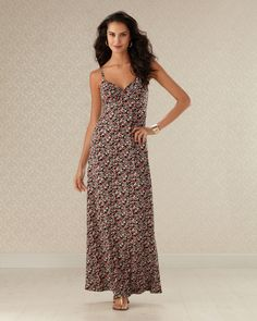 Floral to Ceiling -- Floral Bouquet Print Maxi Dress #somaintimates    www.soma.com