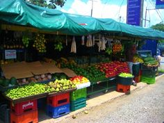 Costa Rica fruit stand...healthy and cheap!!