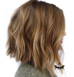 Choppy+Caramel+Lob