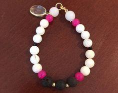 Essential Oil Diffuser Bracelet with Lava Stones