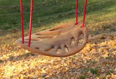Carved Wood LEAF Swing ... beautiful, but nearly 1K ... I don't think so.  DIY project.