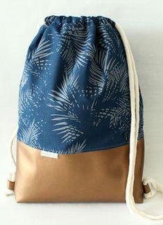 Turnbeutel - WunderStil - Taschen, Turnbeutel & Accessoires Drawstring Backpack, Gym Bag, Challenges, Backpacks, Beige, Sewing, Tutorials, Homemade, Shopping