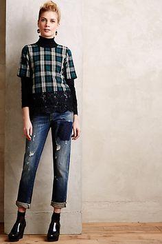 Pilcro Premium Hyphen Straight Jeans - anthropologie.com
