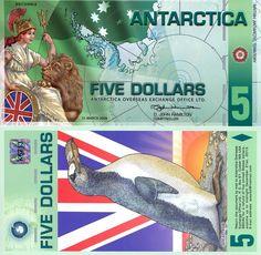 5 Dollars  UNC Banknote