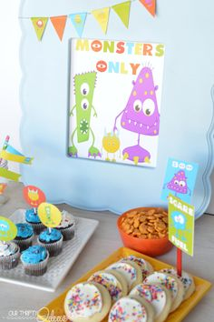 Monster Party with Free Printable  - I Heart Nap Time