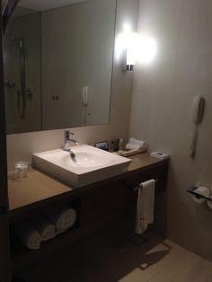 Bathroom in an Executive Room at the Hilton Brisbane Hotel Executive Room, Brisbane, Double Vanity, Sink, Bathroom, Home Decor, Sink Tops, Washroom, Vessel Sink
