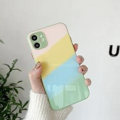 Gradient Tempered Glass Cute Phone Case For iPhone 11 12 Pro Max X XS Max XR 8 7 Plus SE 2020 Silicone Cover | Touchy Style Cheap Iphones, All Iphones, Cute Iphone 5 Cases, Iphone Phone Cases, Iphone 8 Plus, Iphone 11, Best Iphone, Iphone Accessories, Iphone Models