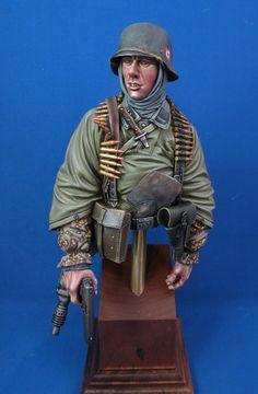 Model bust of German SS trooper