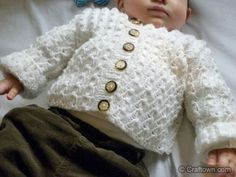 Free Knitting Pattern - Baby Jacket. This would make a great spring jacket for babies. #craftown #knitting