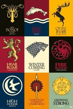 Game of Thrones (House Sigils) Poster - 12x18 - Poster Foundry