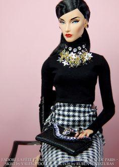 https://flic.kr/p/K23Gr1   Elyse makes a statement wearing a Culte de Paris necklace   Necklace by Culte de Paris Sweater by Clear Lan Skirt by Valeyofdolls Clutch by Rubén Miniaturas