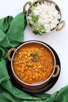 Easy Chana Dal - Split Chickpea soup  Vegan Richa