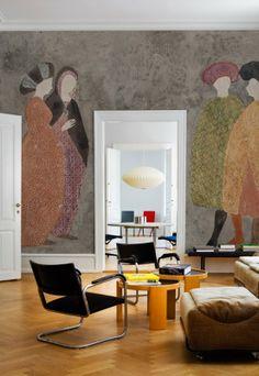 Wall and Deco Agorà Contemporary Wallpaper, Contemporary Decor, Wallpaper Collection, Deco Originale, Traditional Decor, Wall Wallpaper, Wallpaper 2016, Unique Home Decor, Wall Murals