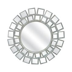 Over bed: Threshold™ Round Tiled Mirror