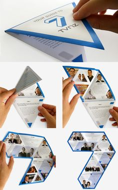In this post we'll showcase mind blowing examples of well-designed brochures for your own design inspiration. Brochure contains summarized or introductory information about company or brand. Brochure design is a key component to the marketing of . Brochure Folds, Brochure Examples, Design Brochure, Creative Brochure, Brochure Layout, Brochure Printing, Company Brochure, Brochure Cover, Poster Cars
