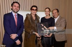"""Daniel Spector, Martine Assouline, Alix de Ligne and Prosper Assouline attend the book launch of """"H.Stern"""" published by Assouline on February 2016 in New York City. Get premium, high resolution news photos at Getty Images Assouline, February 11, Book Launch, Funeral, New York City, City Photo, Royalty, Product Launch, Books"""