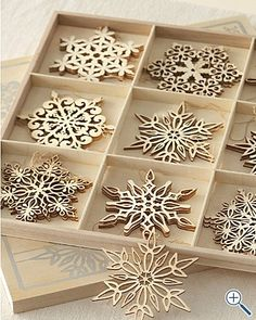 Laser cut snowflake ornaments by paula