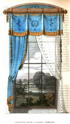 January, 1815 Drawing Room window treatment. @ http://janeaustensworld.files.wordpress.com