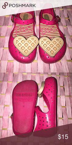 659e796e6966 Mini Melissa toddle shoes Pink waffle heart mini melissa shoes Mini Melissa  Shoes Melissa Shoes