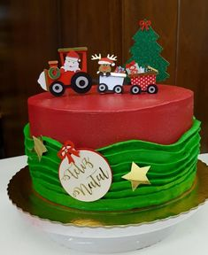 Baby Shower Cakes And Frosting Recipes Christmas Themed Cake, Christmas Cake Designs, Christmas Cake Decorations, Christmas Cupcakes, Holiday Cakes, Decorating Icing Recipe, Cake Decorating, Fondant Cakes, Cupcake Cakes