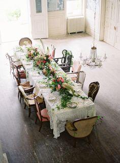 Свадьба в заброшенном особняке от Anne Robert Photography via marinagiller.com
