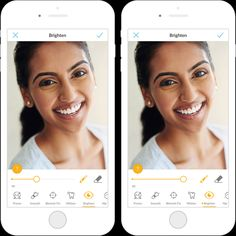How to Get Great Social Media Profile Pictures with Your Phone | PicMonkey mobile app has powerful photo retouching tools, like Eye Brighten, Teeth Whiten, and Smooth (for skin).