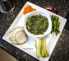 Vegetables with Basil Pecan Pesto