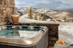 Stein Eriksen Residences, inspired by a blend of contemporary and traditional design, with ski-out/ski-in access to Deer Valley Resort. Tubs For Sale, Spa, Scenery Pictures, The Great Outdoors, Sweet Home, Backyard, Cool Stuff, Hot Tubs, House