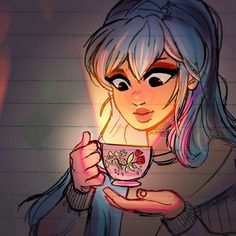 ✨A Cup of Tea✨ - Weekend doodling! Hope youre all enjoying the weekend so far.  #art #drawing #sketch
