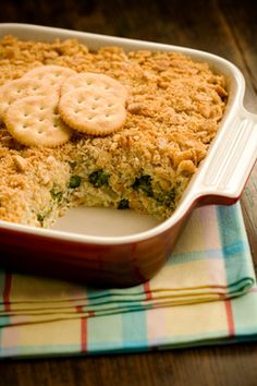 Paula Deen~ Broccoli Casserole ~ Made with Ritz Crackers - family will love this!