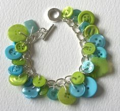 This bracelet is quirky and cute...I think I could make it myself quite cheaply... How cute would these be for bridesmaids?