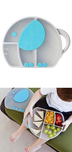 Elephant Lunch Box  @Katlyn Latimer  Why don't we have these??!!