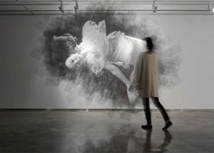 I want a potrait of myself made out of mesh and wire - too cool