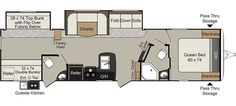 Keystone RV 3350BH floorplan