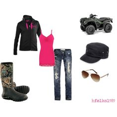 For when my boyfriend gets his new truck to go mudding!!!  Love this<3 Pink Camo, Country Outfits, Country Wear, Camo Boots, Muck Boots, Cowboy Boots, Dress Me Up, Winter Outfits, Summer Outfits