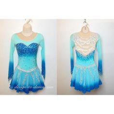 Frozen Elsa (4) Custom Figure Skating Dress/ Rhythmic Gymnastics Dress #dress #skatingdress (#068) -Custom Order $239.00