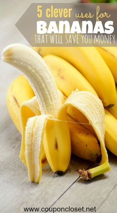 Got bananas? They can be used for more than just a tasty fruit. Here are 5 ways to use bananas that will save you money