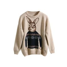 Nordic Hare Sweater (535 CNY) found on Polyvore