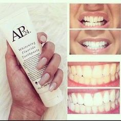 Teeth Whitening Remedies Painless and Effective whitening toothpaste! Ap 24 Whitening Toothpaste, Whitening Fluoride Toothpaste, Teeth Whitening Remedies, Natural Teeth Whitening, Limpieza Natural, Tooth Sensitivity, Teeth Bleaching, Oral Hygiene, Just For You