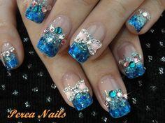 Bridal Nail Gel/ nail designs