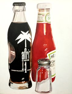 on canvas by Wilfried Ploderer Watercolor Canvas, Bottle, Painting, Pictures, Flask, Painting Art, Paintings, Painted Canvas