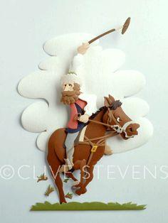 Clive Stevens paper Sculpture Artist