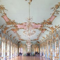 The fairytale splendour of Berlin's Charlottenburg Palace. Almost as stunning as Versaille's Hall of Mirrors