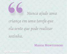 Frase de Maria Montessori