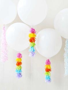 Shop Pastel Tassel Balloon Weight Tail, Light Blue Fringe Balloon Tail, Pink Fringe Balloon Tail, White Balloons Small Helium Tank ft and Balloon Decorations, Birthday Party Decorations, Birthday Party Invitations, Birthday Ideas, First Birthday Parties, First Birthdays, Balloon Tassel, Llama Birthday, Balloon Weights