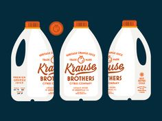 Krause Brothers Bottles by Jacob Boyles #Design Popular #Dribbble #shots