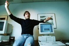"Steve Jobs, in his ""Next Computers"" company office. 1993"