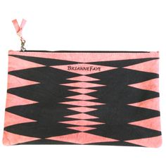 $19 BrianneFaye Artwork Clutch in Diamond Salmon