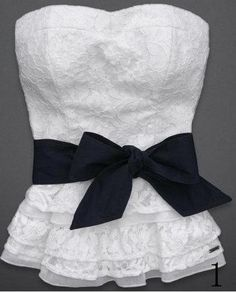 Abercrombie Hollister Womens Strapless White Lace Smocked Top Shirt XS L | eBay/    going to make this