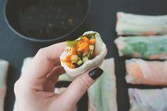 rolinho vegetariano com papel de arroz | Francinha Cooks